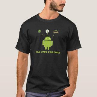Ska kodifiera för mat (Androidsoftwarebärare) T-shirt