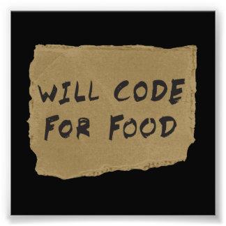 Ska kodifiera för mat fototryck