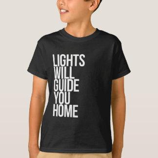 Ska ljus vägleder dig som är hem- t-shirts