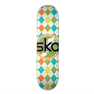Ska musik; Färgrikt Argyle mönster Old School Skateboard Bräda 21,6 Cm