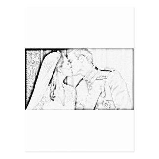 Ska och Kate kyss Vykort