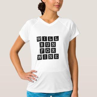 Ska springa för rolig typografisvart för vin tröja
