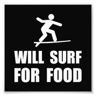 Ska surfa för mat fototryck