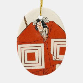 Skådespelare Ichikawa Danjûrô V i den Shibaraku Julgransprydnad Keramik