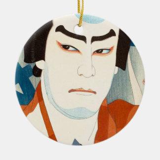 Skådespelare Jitsukawa Enjaku som Danshichi Natori Julgransprydnad Keramik