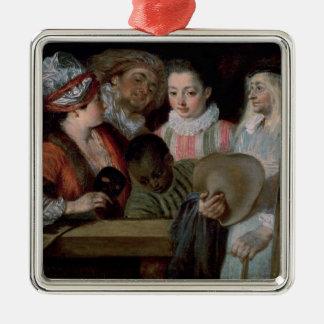 Skådespelarear från theatren Francais, c.1714-15 Julgransprydnad Metall