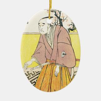 Skådespelaren Onoye Matsusuke mig som ett Julgransprydnad Keramik