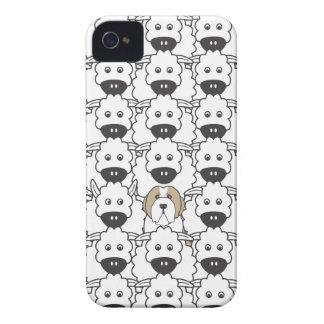 Skäggig Collie i fåren iPhone 4 Case-Mate Skydd