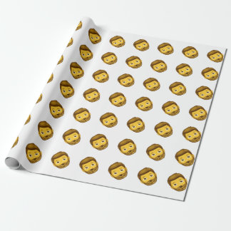 skäggig man för emoji presentpapper