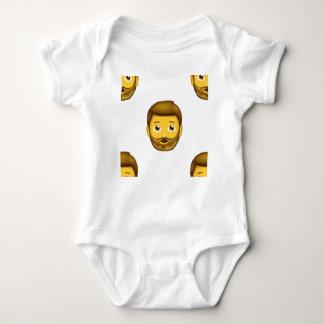 skäggig man för emoji t shirt