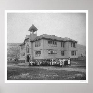 Skagway Alaska kommunal skola 1906 Poster