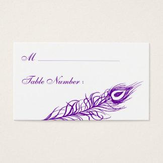 Skaka ditt (violetta) kort för svanfjäderstället,