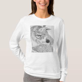 Skalaa katt för grå färg t shirts