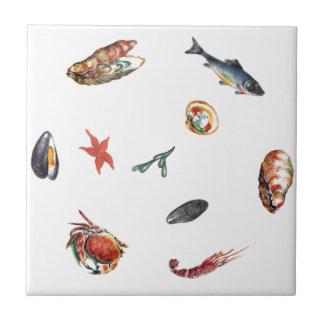 skaldjur kakelplatta