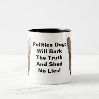 Skäll för herde för politik tysk ska hund Två-Tonad mugg