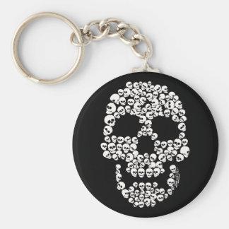 Skalle av döskallar Keychain Rund Nyckelring