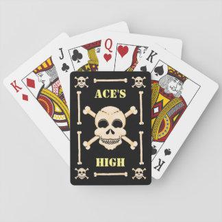 Skalle & Crossbonesesskick som leker kort Spel Kort