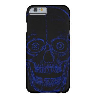 Skalle för demon för Skully skalleblått Barely There iPhone 6 Fodral