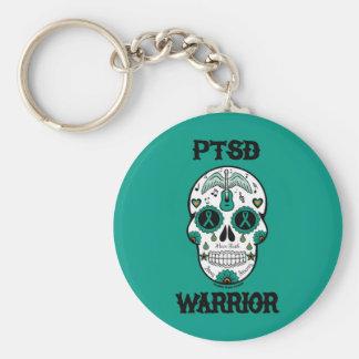 Skalle för PTSD-KRIGAREsocker Rund Nyckelring