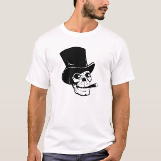 Skalle i top hat som röker cigarren tröjor