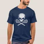 Skalle & korsad RacquetstennisT-tröja Tee Shirts