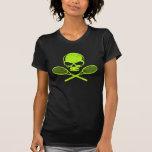 Skalle & korsad T-tröja för Racquetstennisdamer