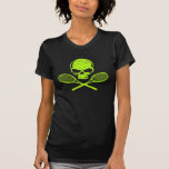 Skalle & korsad T-tröja för Racquetstennisdamer Tröjor