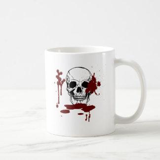 Skalle med blod kaffemugg