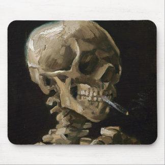 Skalle med brinna cigarettVincent Van Gogh konst Musmatta