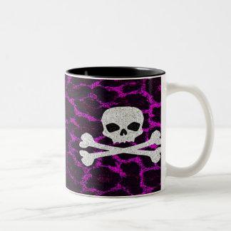 Skalle med det purpurfärgade Leopardtrycket Två-Tonad Mugg
