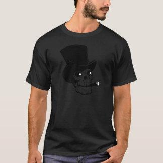 Skalle med top hat och cigarren tee shirt