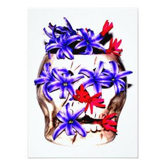 Skalle- och hyacintblommor 14 x 19,5 cm inbjudningskort