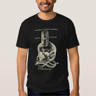 Skalle och orm med timglasskjortan t shirts