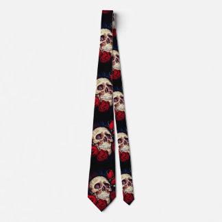 skalle- och röd rosmanar tie slips