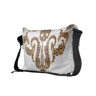 SkalleDamast-Leopard Kurir Väska