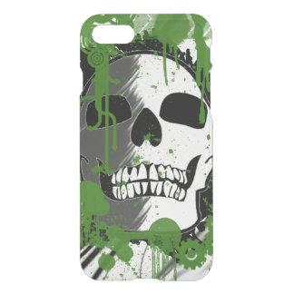 skallehuvudet med grönt spots konstgrafitti iPhone 7 skal