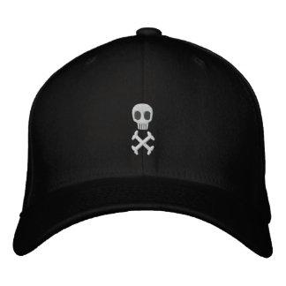 Skallen & Crossbones broderade hatten Hatt