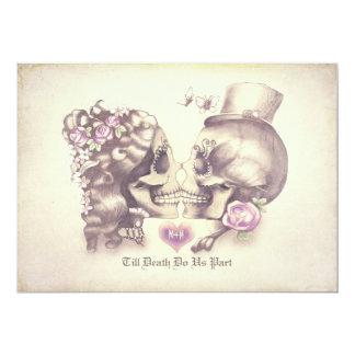 Skallen kopplar ihop day of the 12,7 x 17,8 cm inbjudningskort