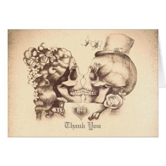 Skallen kopplar ihop gammalt bröllop tackar dig OBS kort