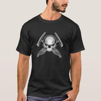 Skallen och korsade Welders bultar T-shirts