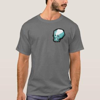 Skalleutslagsplats (grått) t shirts