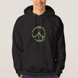 Skamfilad fredstecken hoodie