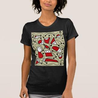 Skämtsam abstrakt konst tshirts