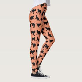 Skämtsam kattSilhouette Leggings