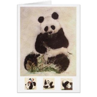 skämtsam panda hälsningskort
