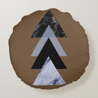 Skandinav abstrakt #883 rund kudde