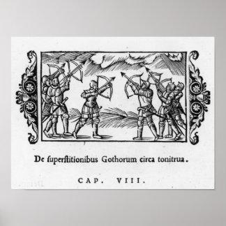 Skandinav genom att använda deras pilar poster