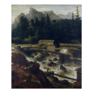 Skandinavet landskap 1670 print