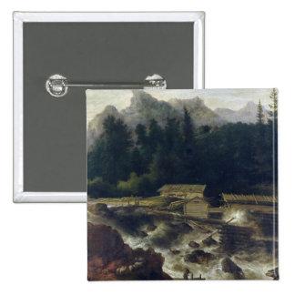Skandinavet landskap, 1670 standard kanpp fyrkantig 5.1 cm