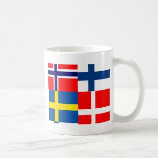 Skandinavet sjunker kvartett muggar
